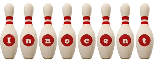 Innocent bowling-pin logo