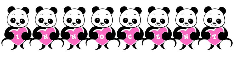 Innocent love-panda logo
