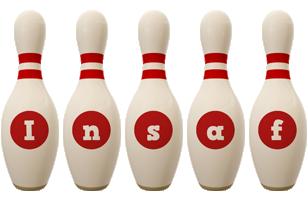 Insaf bowling-pin logo