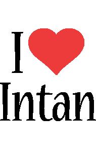 Intan i-love logo