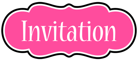 INVITATION logo effect. Colorful text effects in various flavors. Customize your own text here: https://www.textGiraffe.com/logos/invitation/