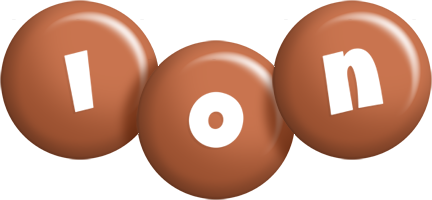 Ion candy-brown logo
