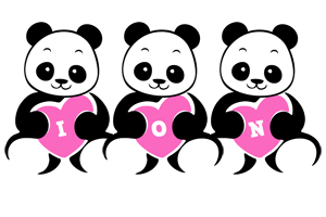 Ion love-panda logo