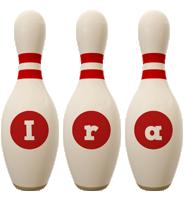 Ira bowling-pin logo