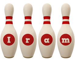 Iram bowling-pin logo