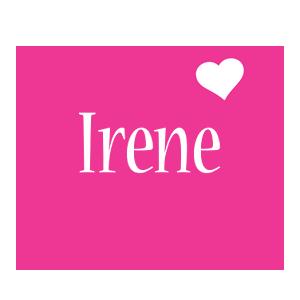 Irene love-heart logo