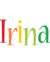 Irina birthday logo