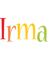 Irma birthday logo
