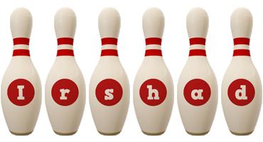 Irshad bowling-pin logo