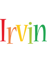 Irvin birthday logo