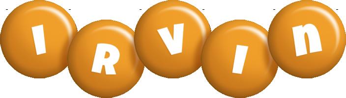 Irvin candy-orange logo