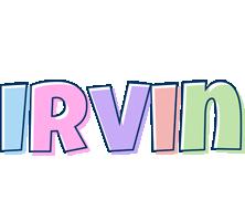 Irvin pastel logo