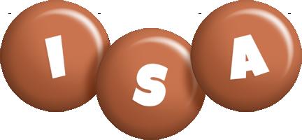 Isa candy-brown logo