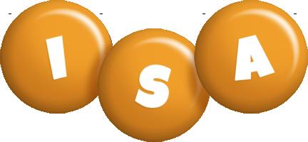 Isa candy-orange logo