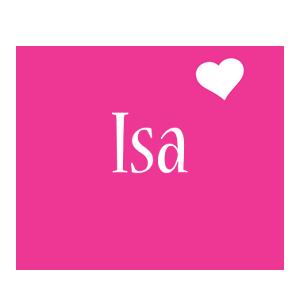 Isa love-heart logo