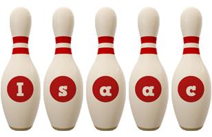 Isaac bowling-pin logo