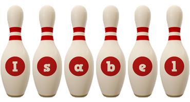 Isabel bowling-pin logo