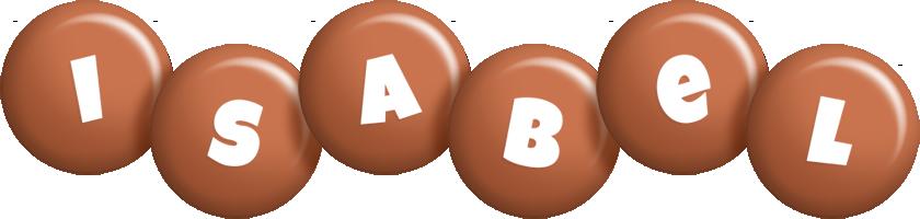 Isabel candy-brown logo