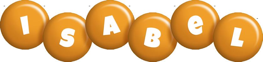 Isabel candy-orange logo
