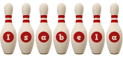 Isabela bowling-pin logo