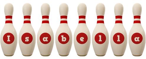 Isabella bowling-pin logo