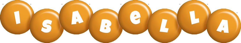 Isabella candy-orange logo
