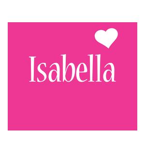 Isabella love-heart logo