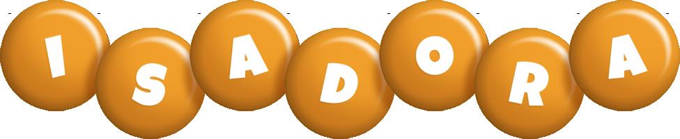 Isadora candy-orange logo