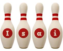 Isai bowling-pin logo