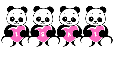 Isai love-panda logo