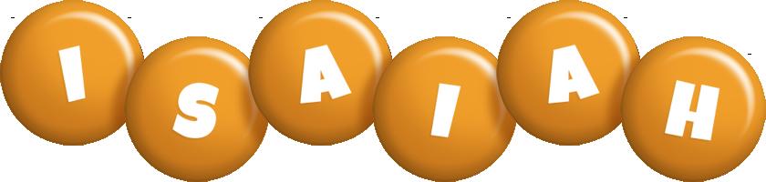Isaiah candy-orange logo