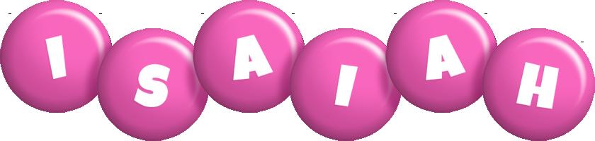 Isaiah candy-pink logo