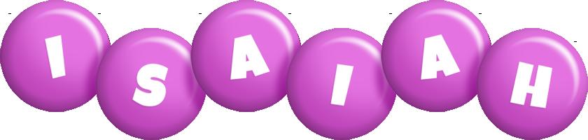 Isaiah candy-purple logo
