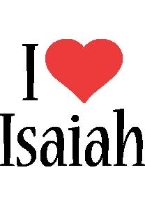 Isaiah i-love logo