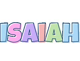 Isaiah pastel logo