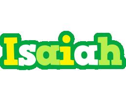 Isaiah soccer logo