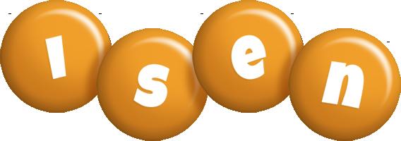 Isen candy-orange logo