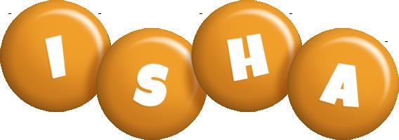 Isha candy-orange logo