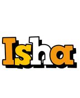 Isha cartoon logo