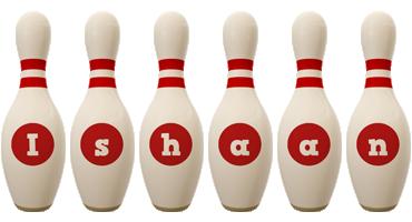 Ishaan bowling-pin logo