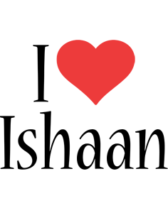 Ishaan i-love logo