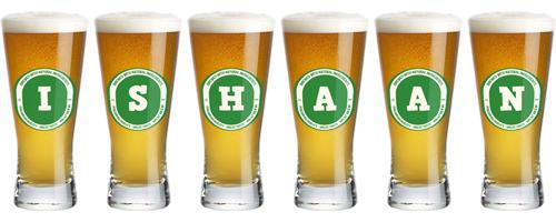 Ishaan lager logo