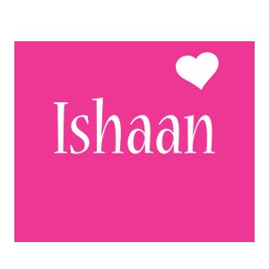 Ishaan love-heart logo
