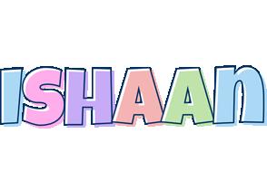 Ishaan pastel logo