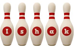 Ishak bowling-pin logo