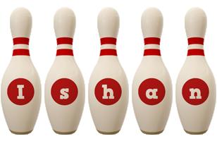 Ishan bowling-pin logo