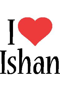Ishan i-love logo
