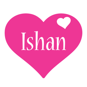 Ishan love-heart logo