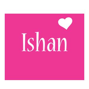 Ishan love-heart logo