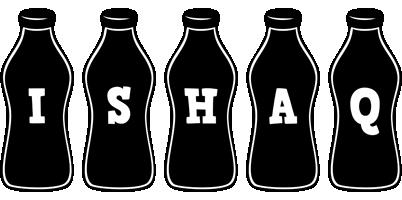 Ishaq bottle logo